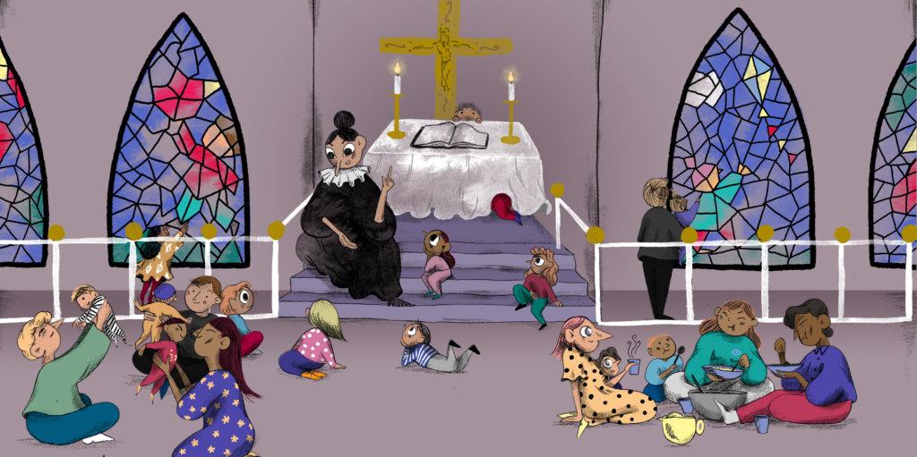 Børnefamiliers brug af kirken