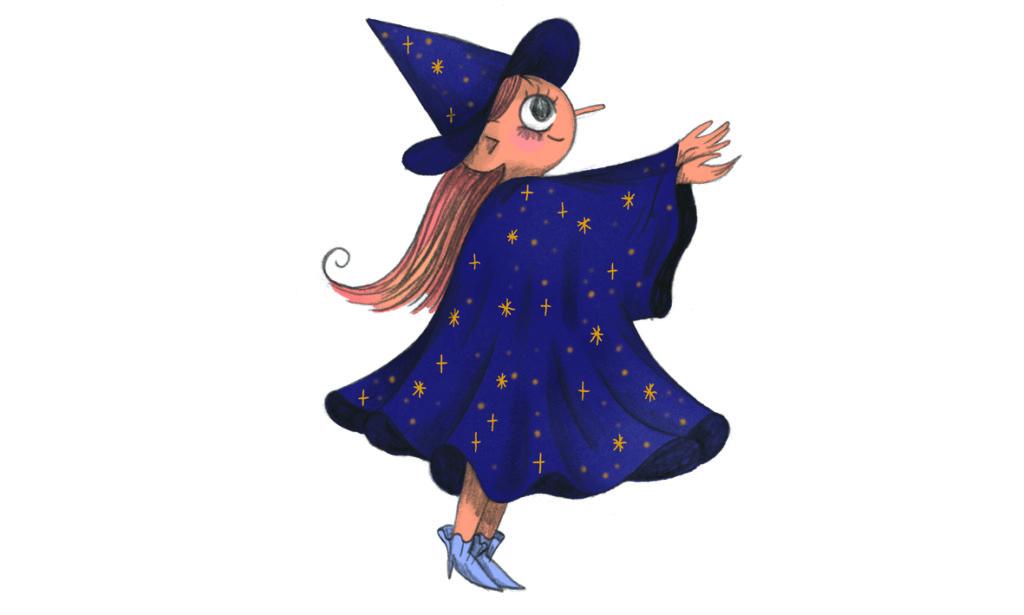 Fastelavn - barn klædt ud som heks