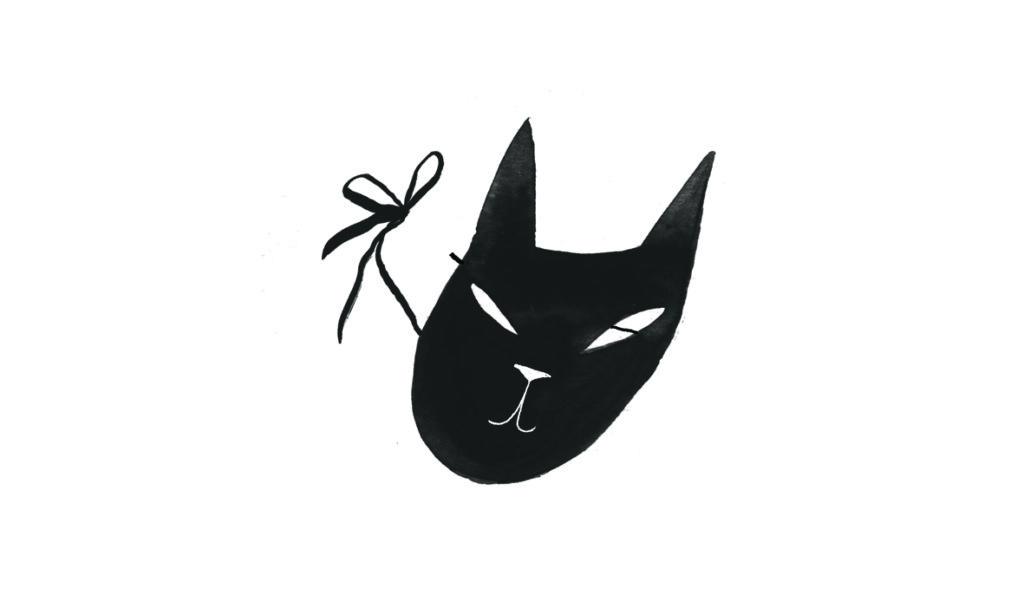 Børn i kirken fastelavn: maske kat