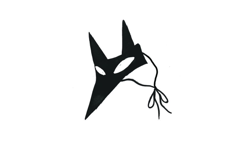 Børn i kirken fastelavn: maske ræv