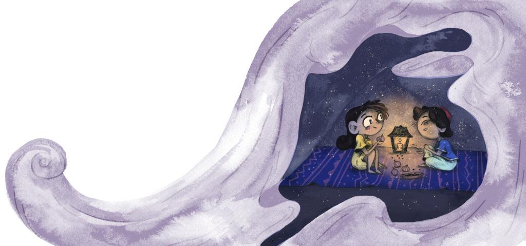 Bibelfortællinger for børn: Lea, Laban og lagenet - børn leger hule