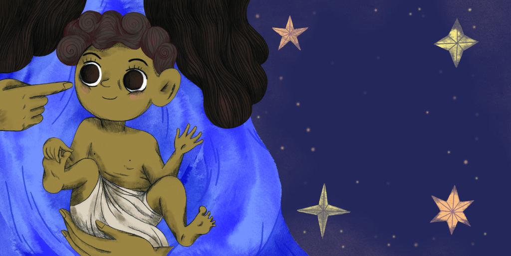 Pegebog for 1-3 årige - Maria med sit barn Jesus