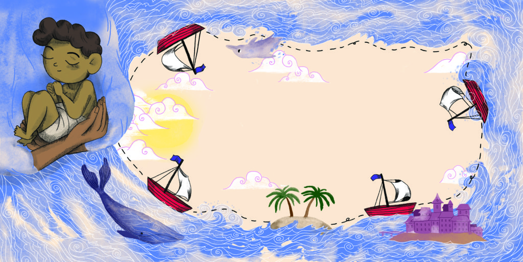 Pegebog for 1-3 årige - Det lille skib, om tro