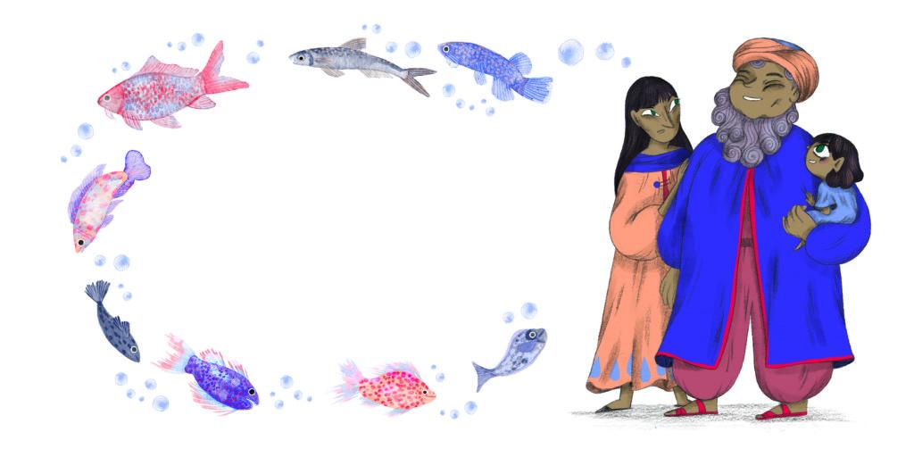 Bibelfortællinger for børn: Petra og feberen der forsvandt - far er hjemme igen efter fisketur