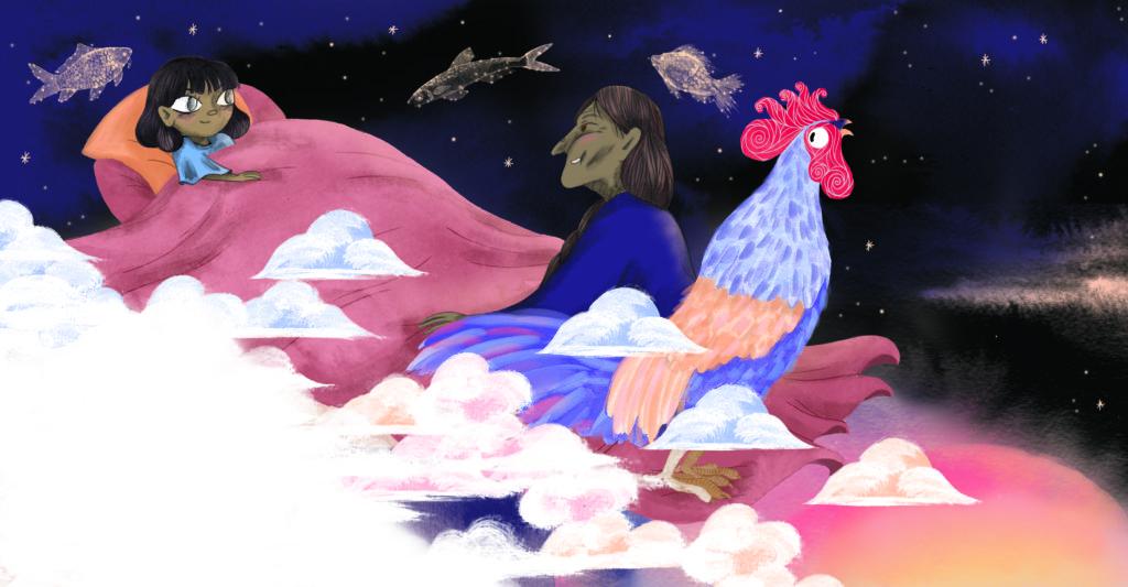 Bibelfortællinger for børn: Petra og feberen der forsvandt - Petras mormor fortæller godnathistorie