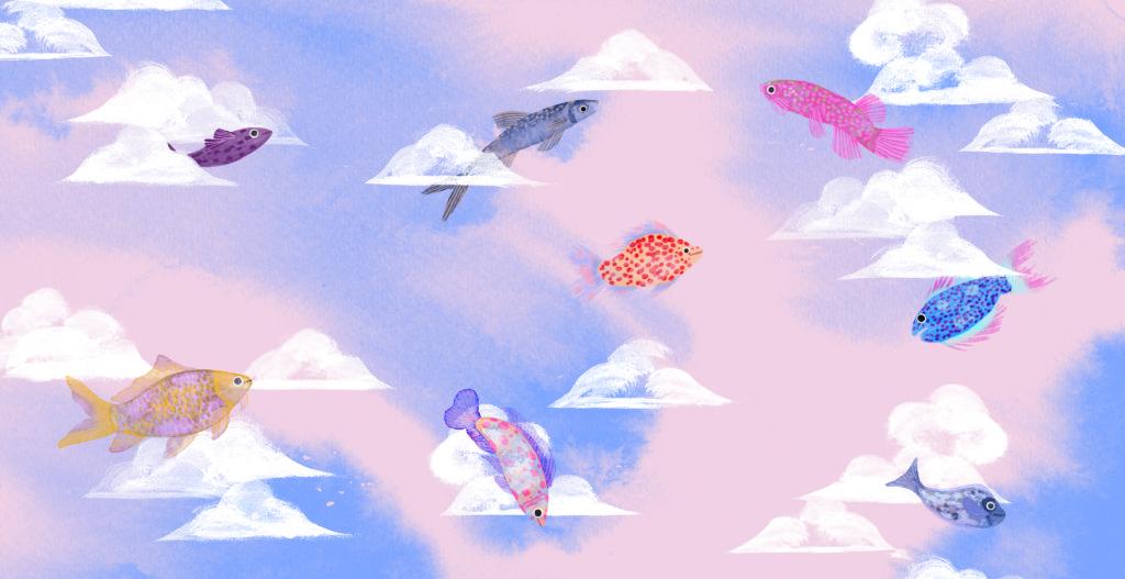 Bibelfortællinger for børn: Petra og feberen der forsvandt - fisk og skyer