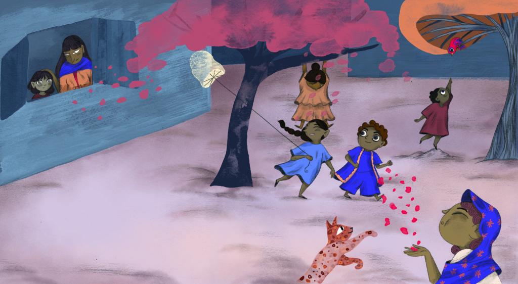 Bibelfortællinger for børn: Petra og feberen der forsvandt - Petra har feber mens de andre børn leger