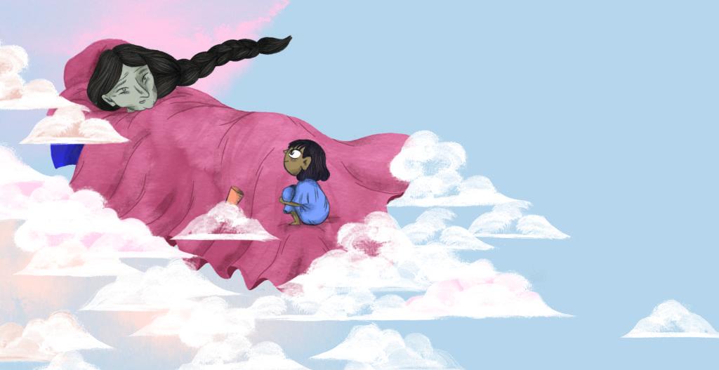 Bibelfortællinger for børn: Petra og feberen der forsvandt - Mormor svæver i skyerne