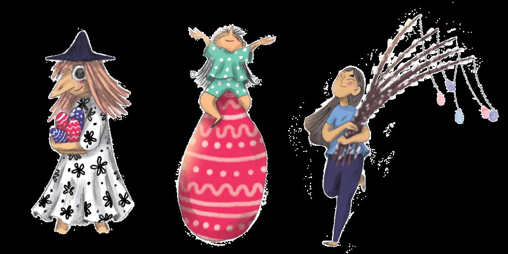 Børn i kirken: Piger med æg og gæslinger fritlagt