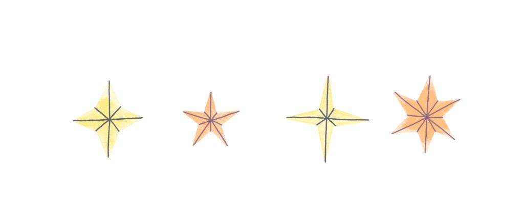 Pegebog for 1-3 årige - stjerner detalje